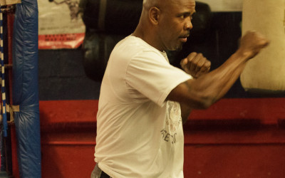 Former World Champion Willy Wise Warming Up at the Westbury Boxing Club, Westbury New York