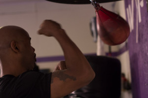 Willy Wise on Speed Bag